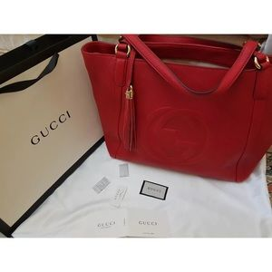 Red Gucci Soho Shoulder Bag